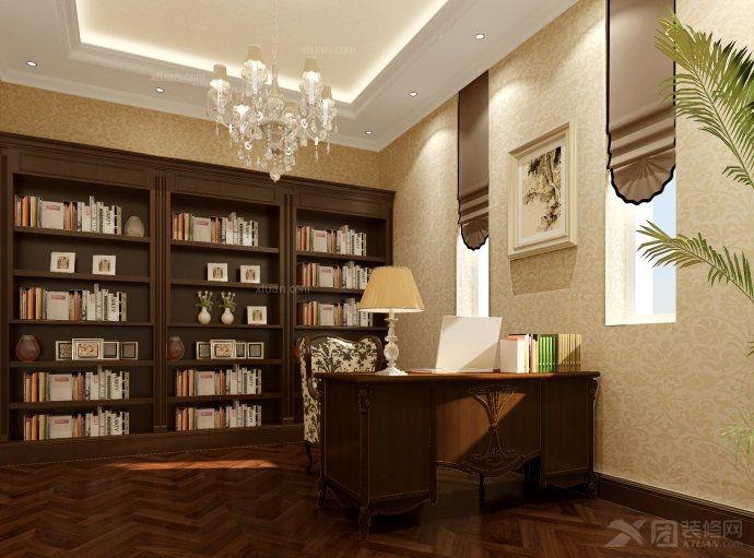 复式楼现代简约书房软装