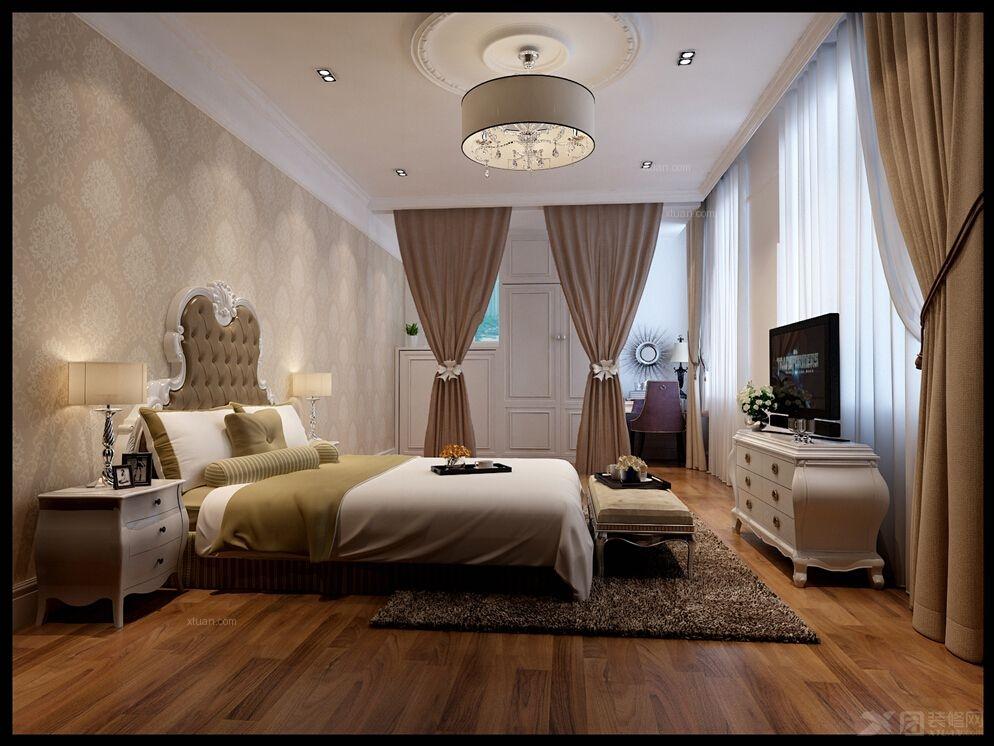 别墅欧式风格卧室图片