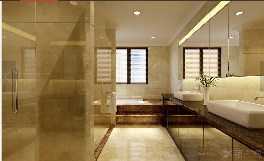 别墅美式风格洗手间