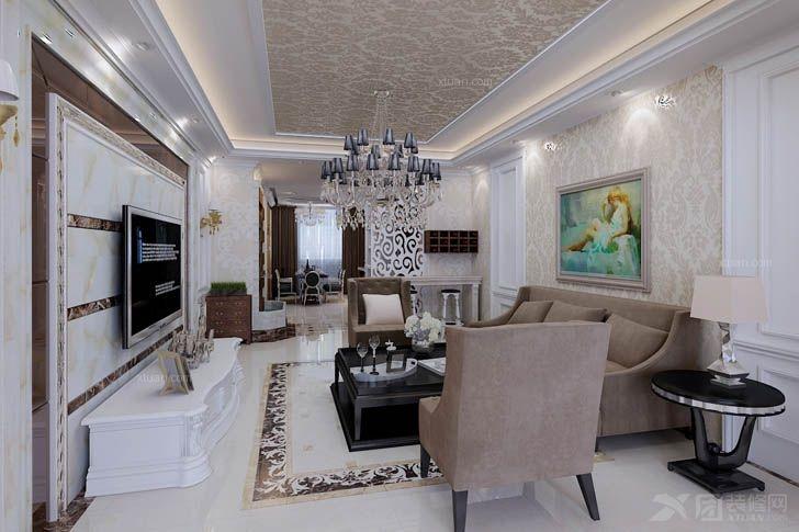 三室两厅法式风格客厅