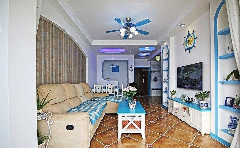 一居室地中海风格客厅