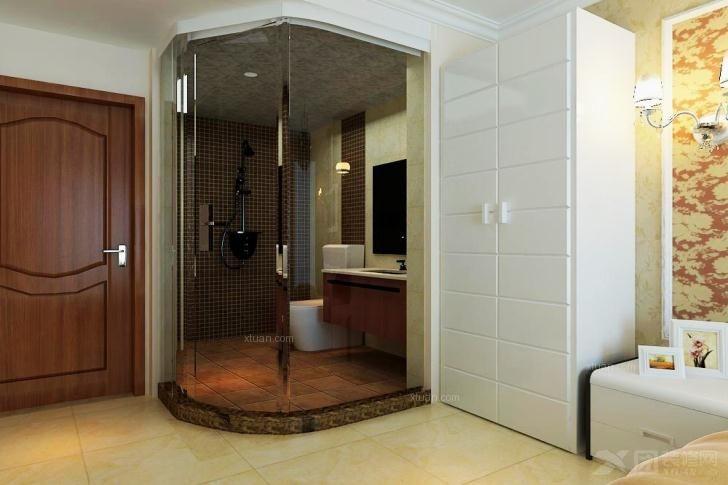 三居室中式风格卫生间软装
