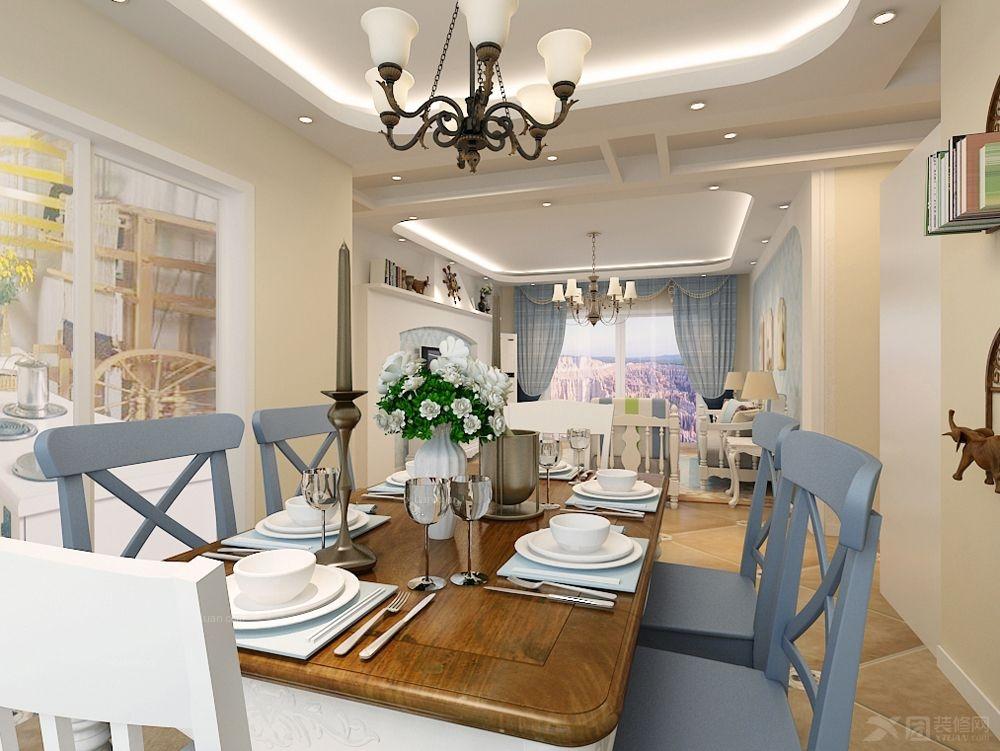 三居室地中海风格客厅沙发背景墙