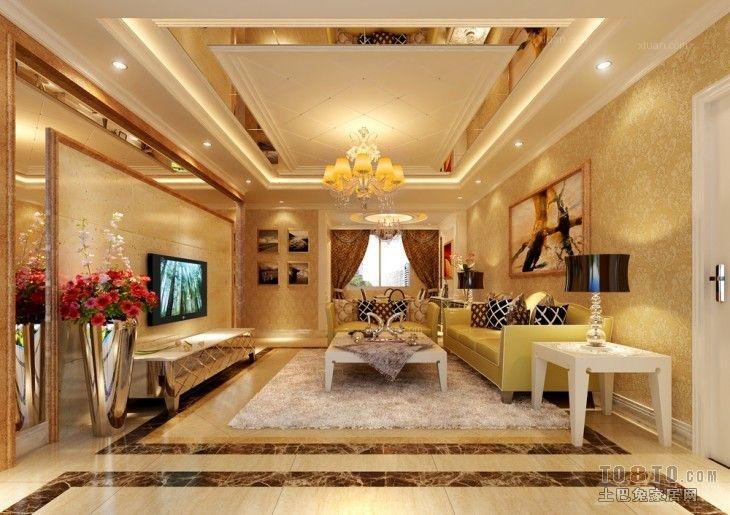 大户型时尚风格客厅电视背景墙