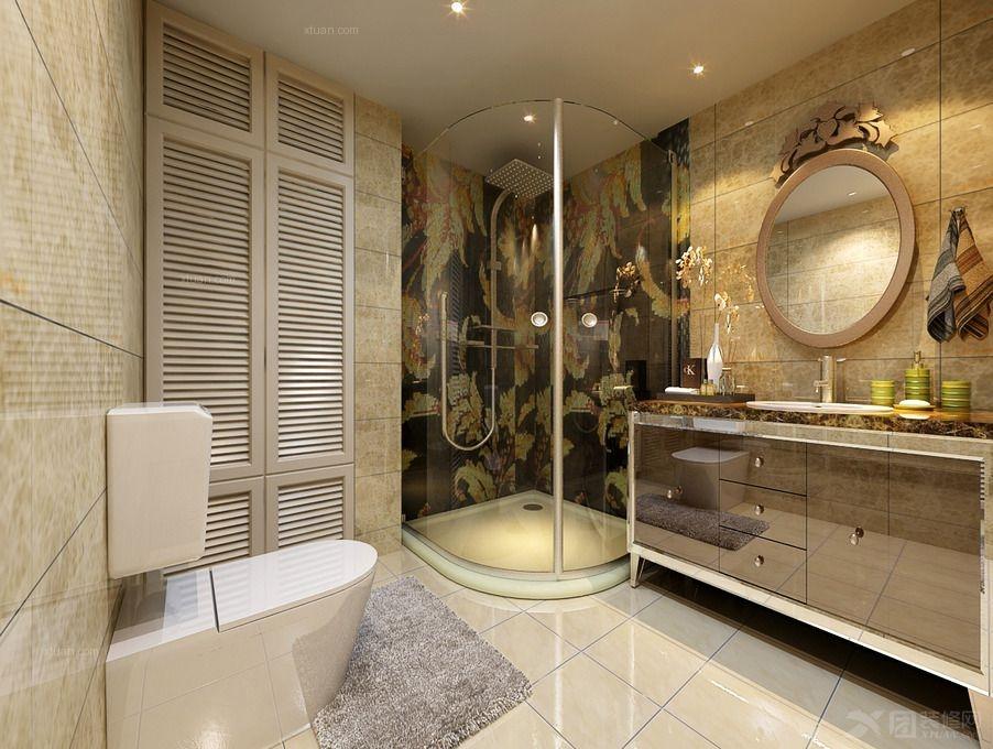 四居室简欧风格厕所