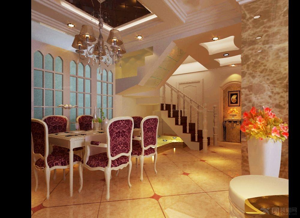 复式楼欧式风格餐厅图片