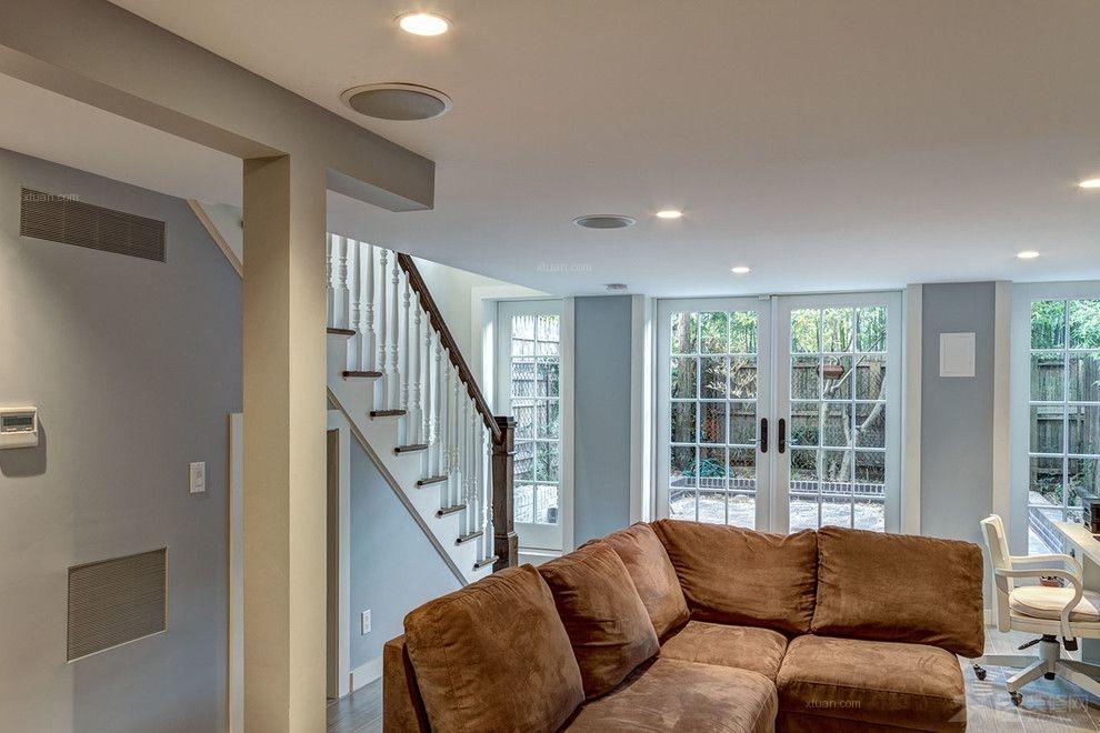 复式楼美式风格客厅图片