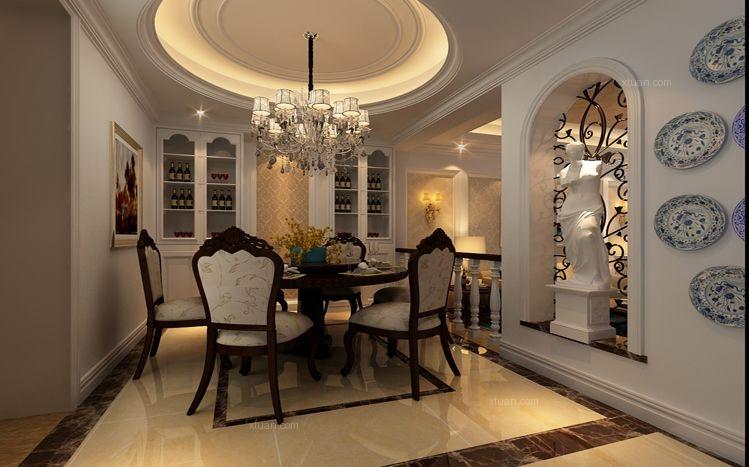 别墅法式风格客厅软装图片