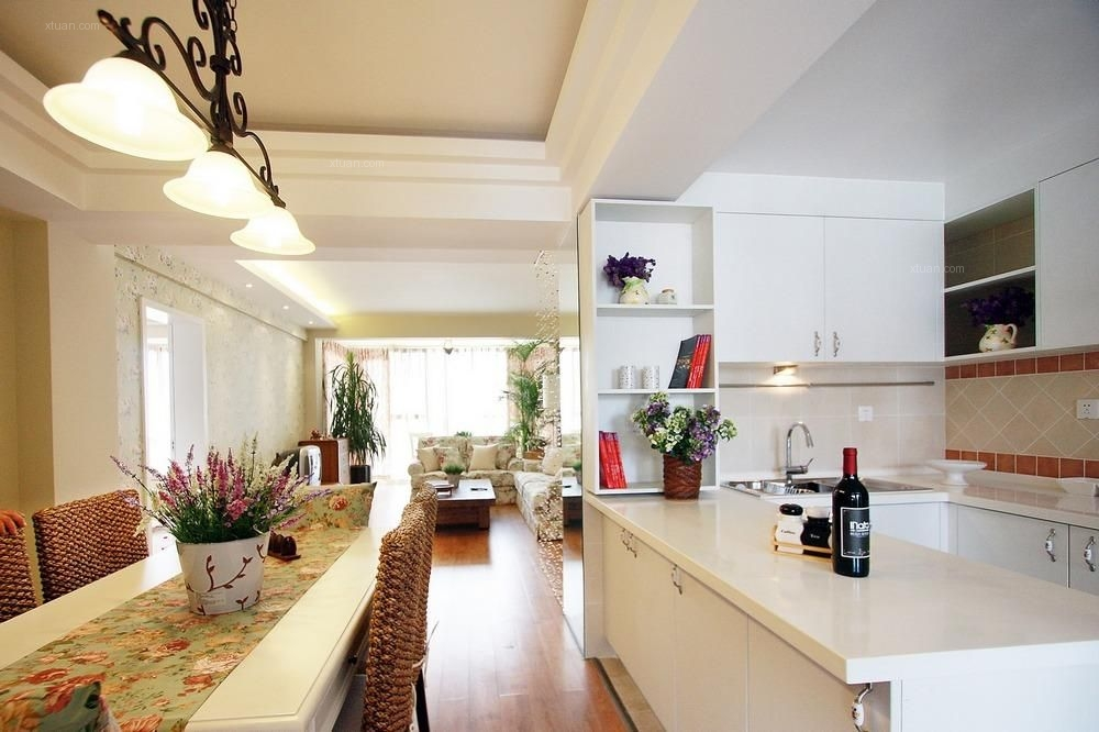 两居室田园风格厨房