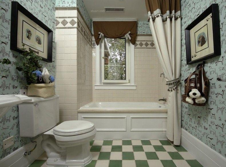 四居室田园风格洗手间