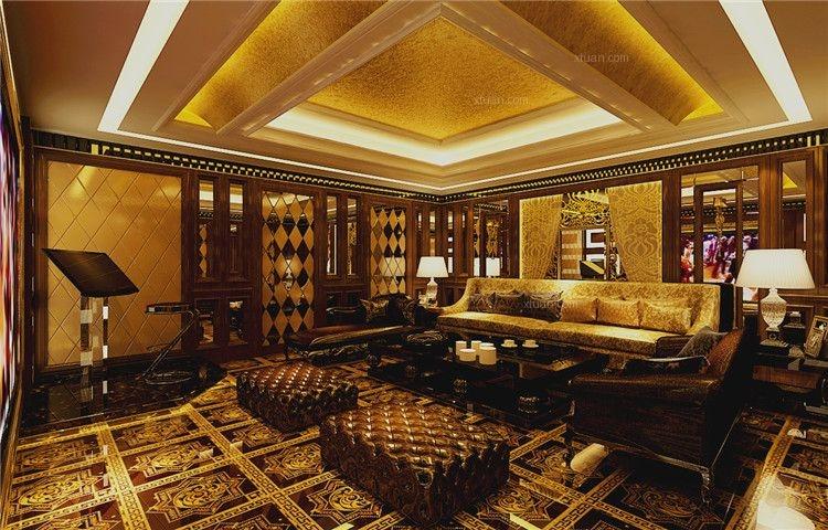 别墅欧式风格地下室_汇锦庄园别墅样板间装修效果图-x图片