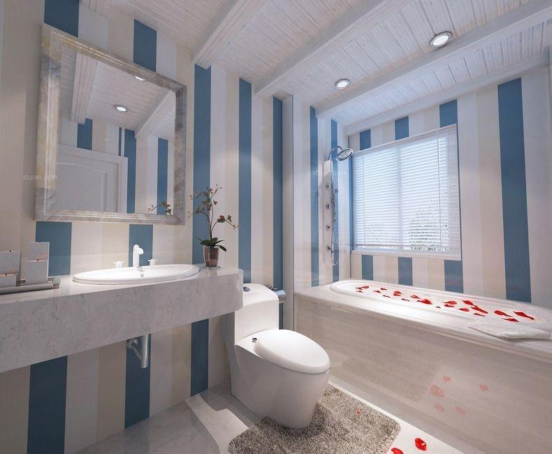 四居室地中海风格浴室