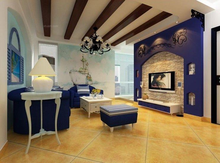 三居室地中海风格衣帽间