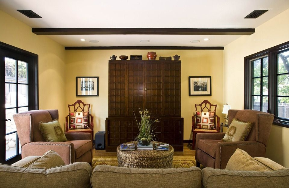 两室两厅地中海风格客厅
