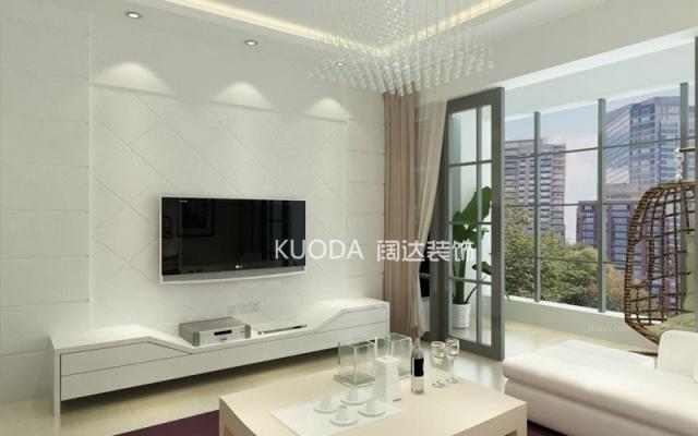 西山区金坤世纪89平方米现代风格D户型5.8万元