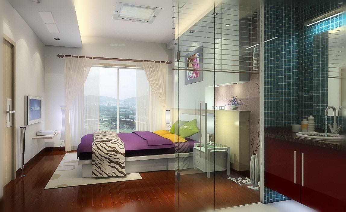 复式楼现代风格卧室卧室背景墙
