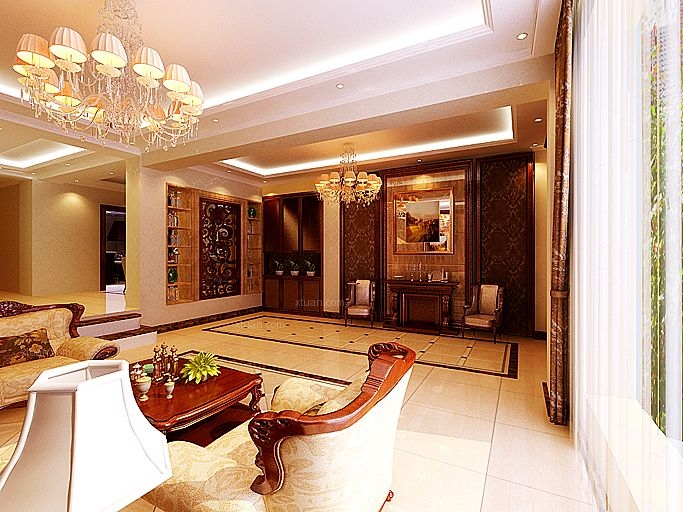 独栋别墅欧式风格地下室图片