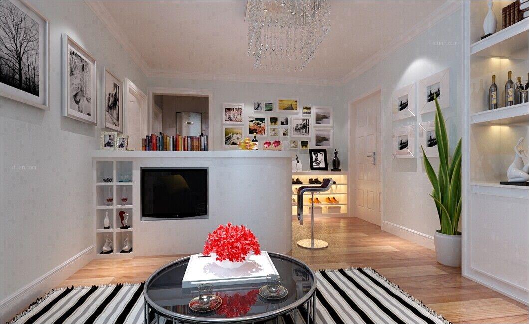 一居室现代简约客厅