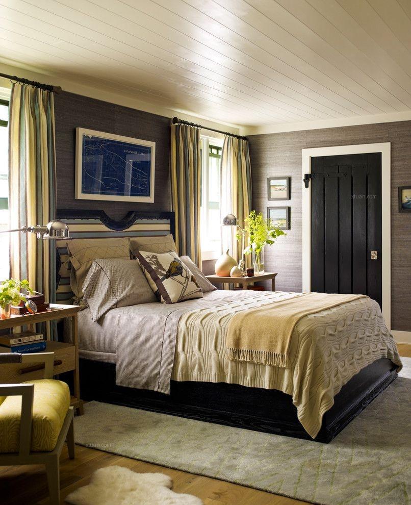 别墅简欧风格主卧室图片