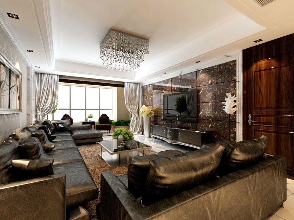 三居室韩式风格客厅_青特城韩式风格装修效果图-x团图片