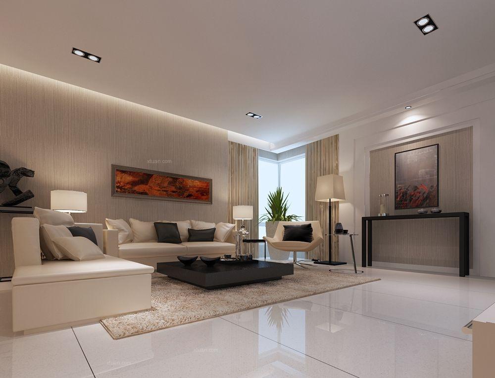 四居室现代简约客厅照片墙
