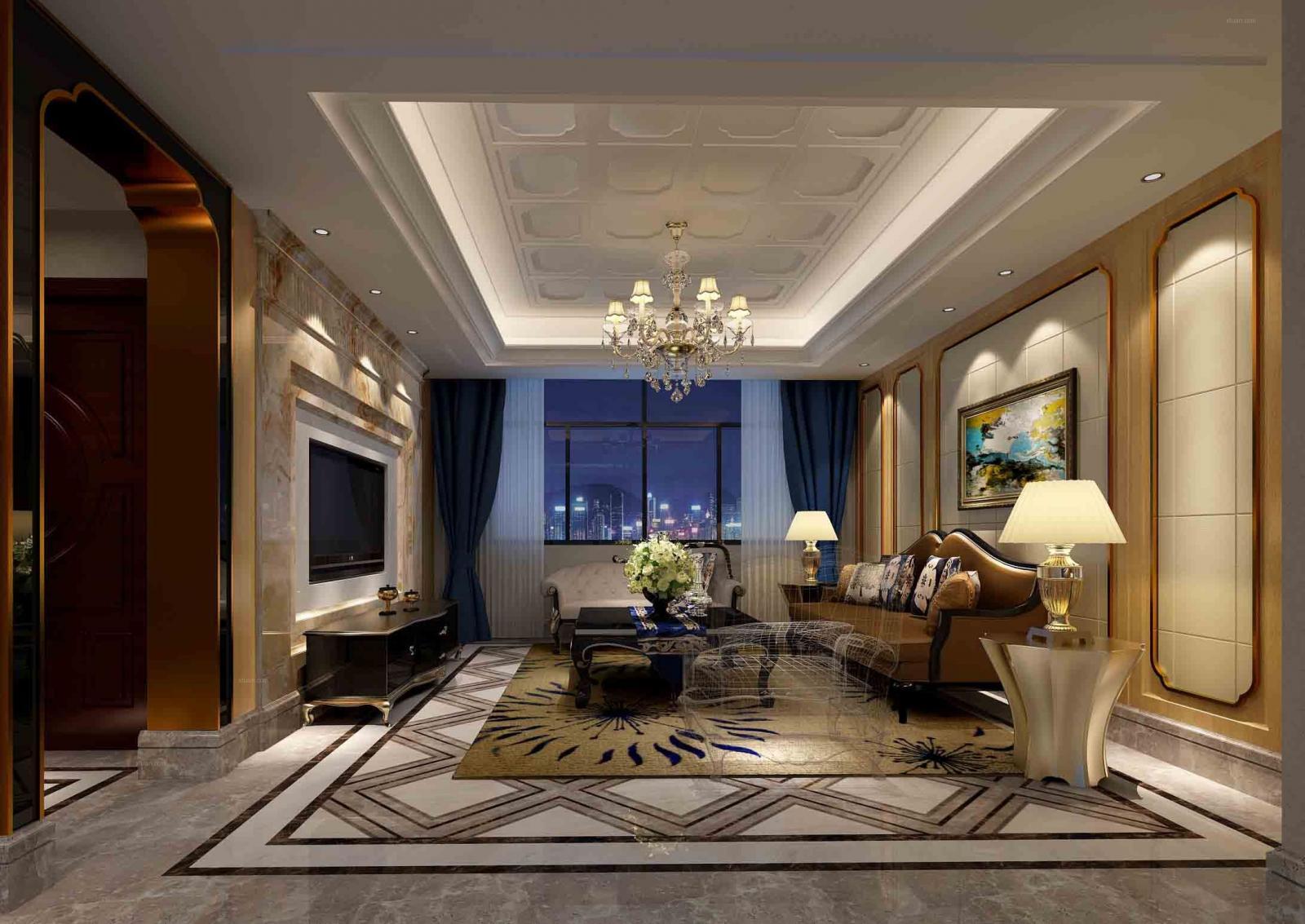 三室两厅古典风格客厅