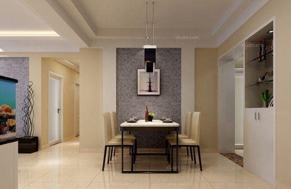三居室简欧风格餐厅_融汇半岛香缇漫山装修效果图-x团