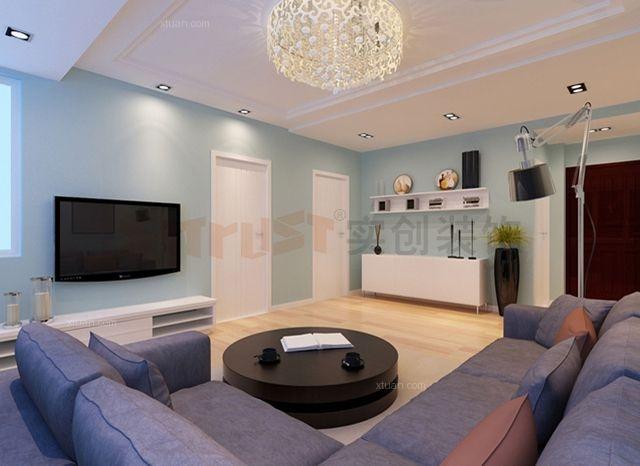 馨逸园100平米现代简约三居室