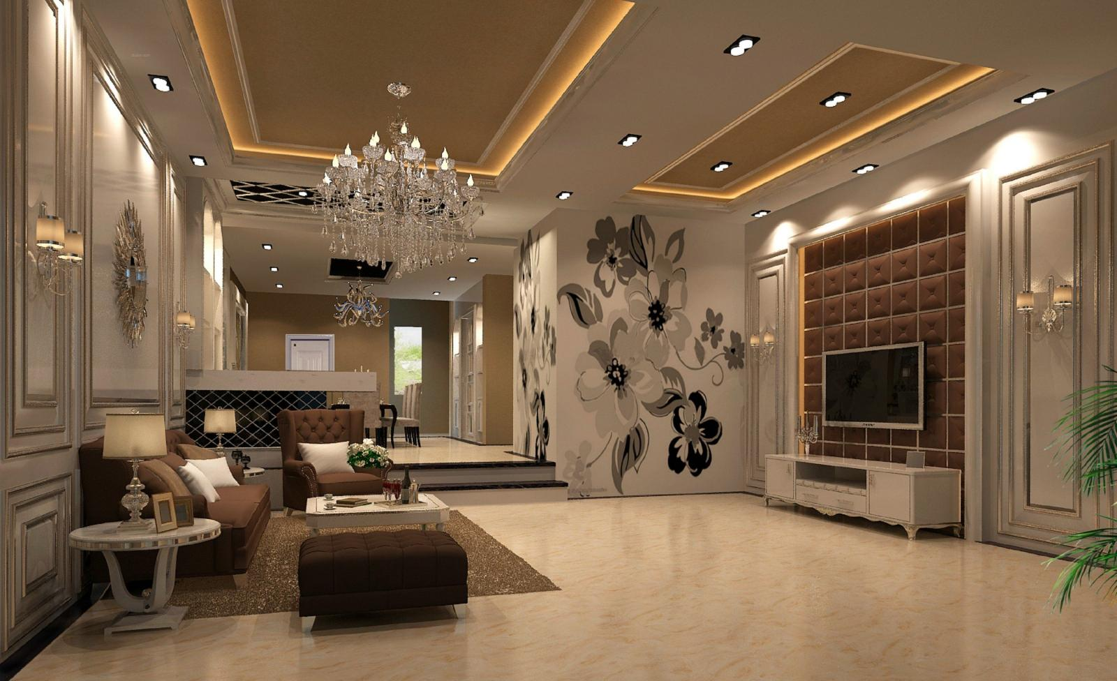 别墅欧式风格客厅_香缇半岛装修效果图