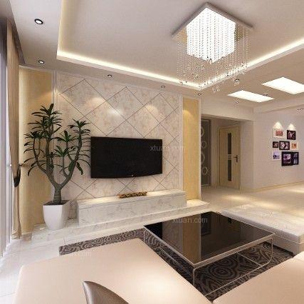 两室一厅简欧风格客厅_龙腾碧玉湾装修效果图-x团装修图片