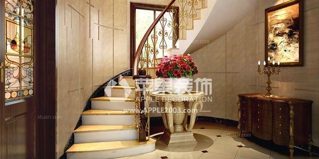 复式楼欧式风格阁楼入户花园_合肥苹果装饰装修效果图图片