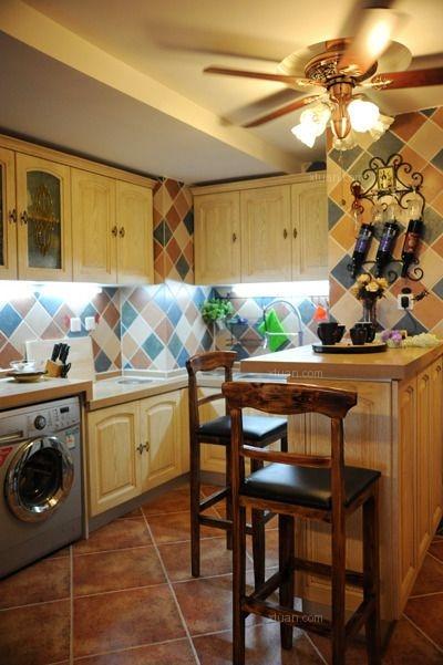 三居室地中海风格厨房