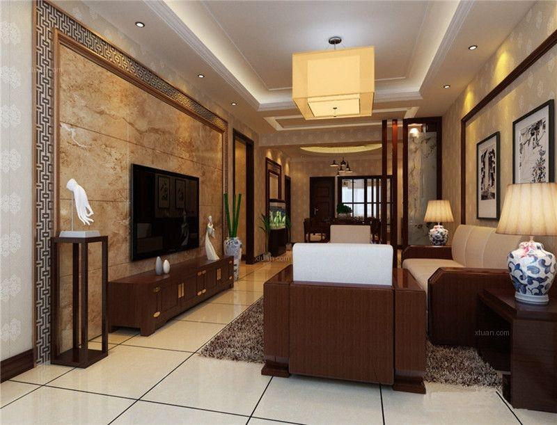 西山区广福城135平方米新中式风格D5户型9.3万元