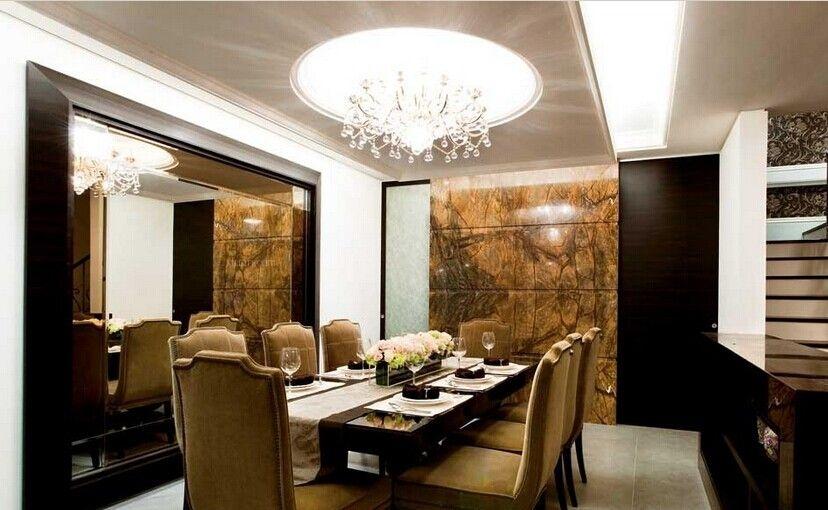 别墅新古典餐厅_半山半岛装修效果图-x团装修网