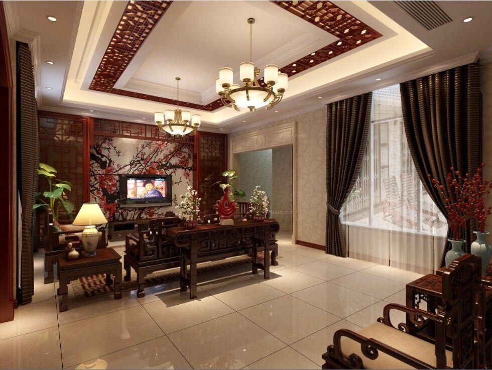 别墅中式风格地下室_九龙湖别墅装修效果图-x团装修图片