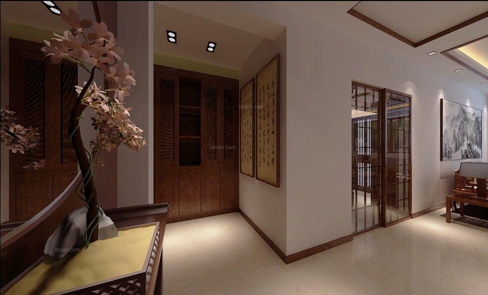 卢浮宫馆-135平-中式风格装修设计案例