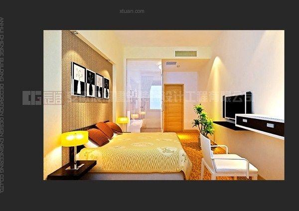 现代插画风景酒店