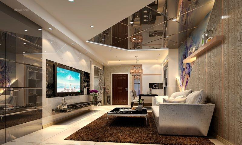 大户型现代简约客厅