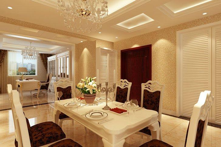 两室两厅简欧风格餐厅_唐山业之峰案例装修效果图图片