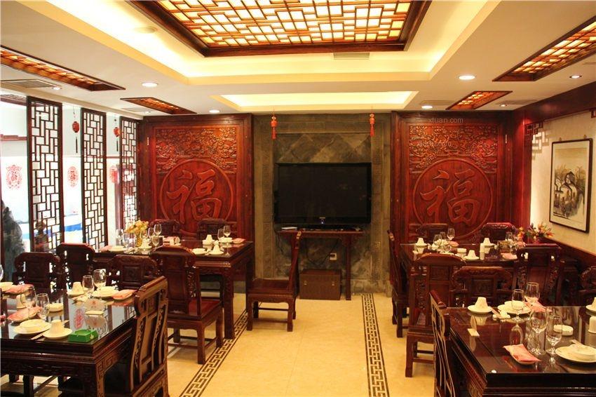 中式风格酒店_天津塘沽中式酒店装修效果图-x团装修网图片