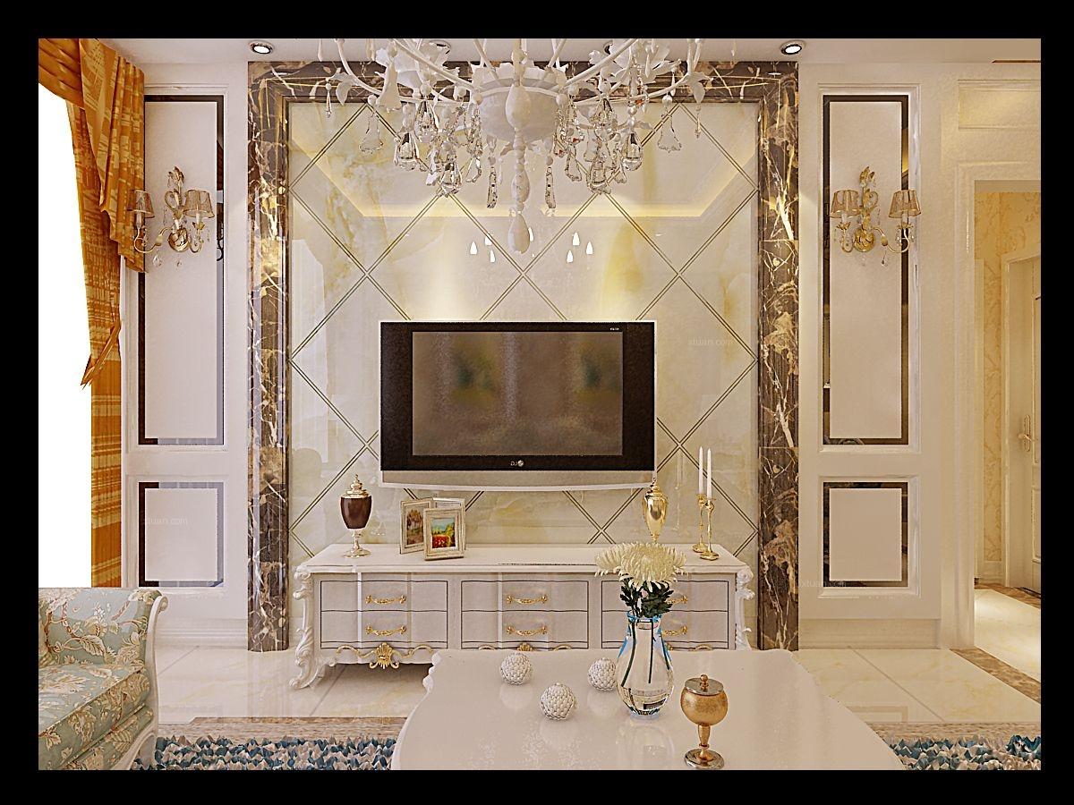 最热欧式风格电视背景墙效果图