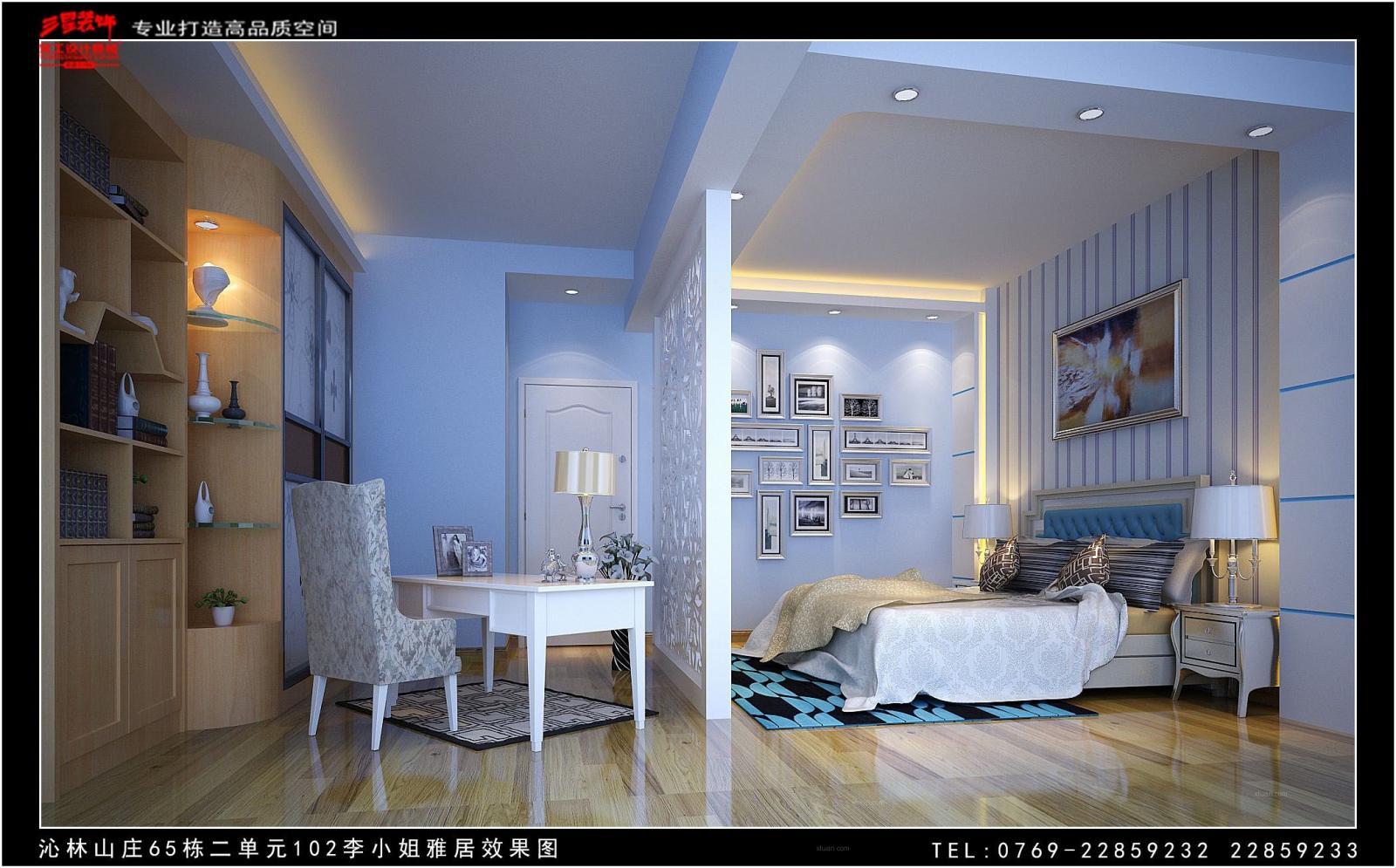 复式楼简欧风格小卧室