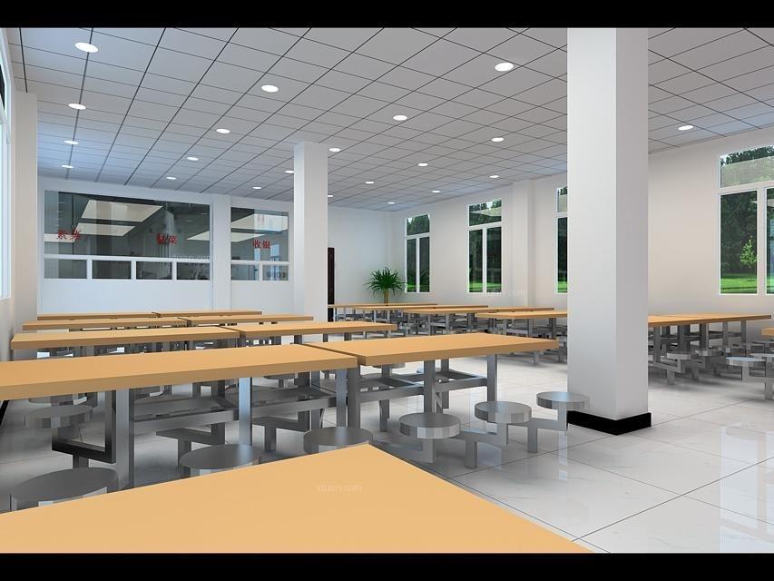 工厂食堂和包厢装修效果图-x团装修网
