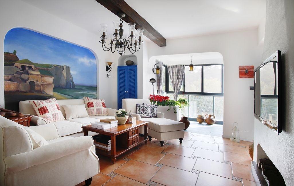 小户型地中海风格客厅