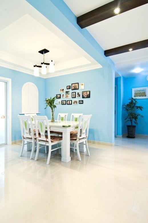 蓝色海洋风创意温馨2室2厅舒适房