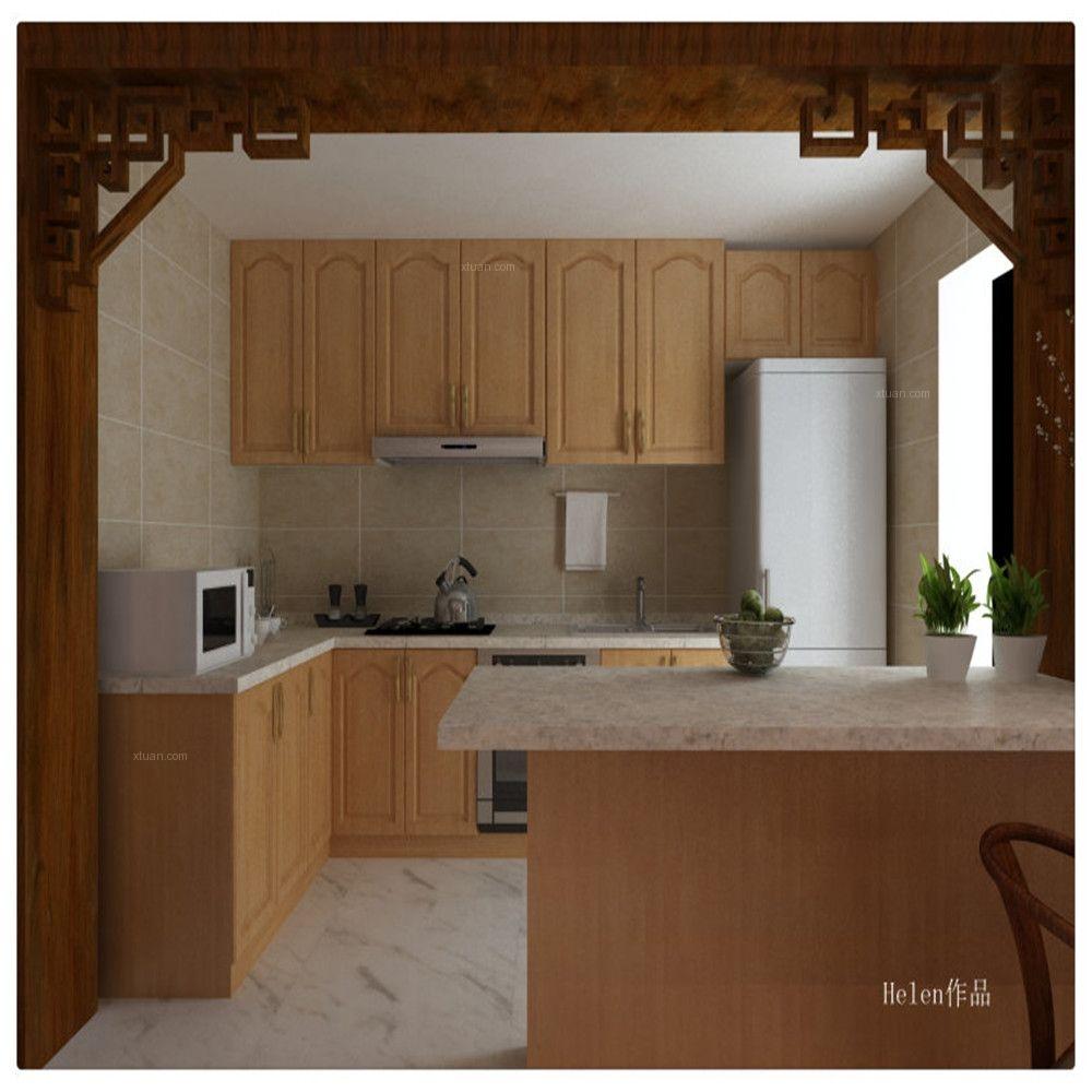 两室两厅中式风格厨房图片