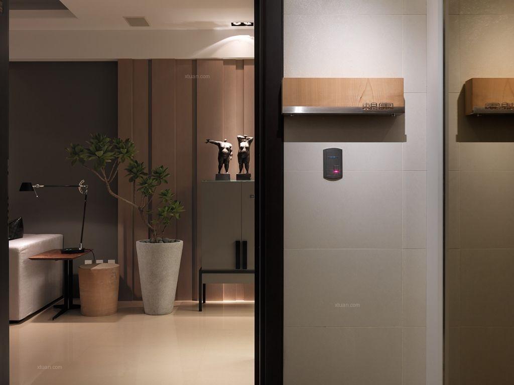 三室两厅现代简约客厅隔断