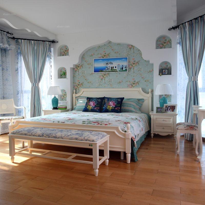 三居室地中海风格主卧室