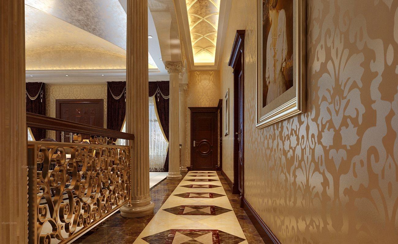 设计理念:客厅及餐厅面积比较大,空间较高。房屋格局是土木建筑师独立设计,所以在格局上设计比较顺利,主要充分考虑本案的欧式豪华复古风格,造型,以及整体色彩搭配效果。并且着重的设计了客厅及餐厅的欧式感觉,进入大门后,映入眼帘的便是客厅以及餐厅,空间十分宽敞,所以本案采用的大理石背景墙,整体感觉奢华而高贵。