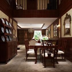 碧桂园生态城别墅室内设计中式风格